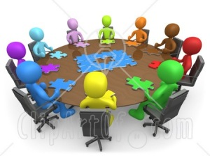 15195-group-of-colorful-and-diverse-people-holding-a-meeting-and-trying-to-solve-a-jigsaw-around